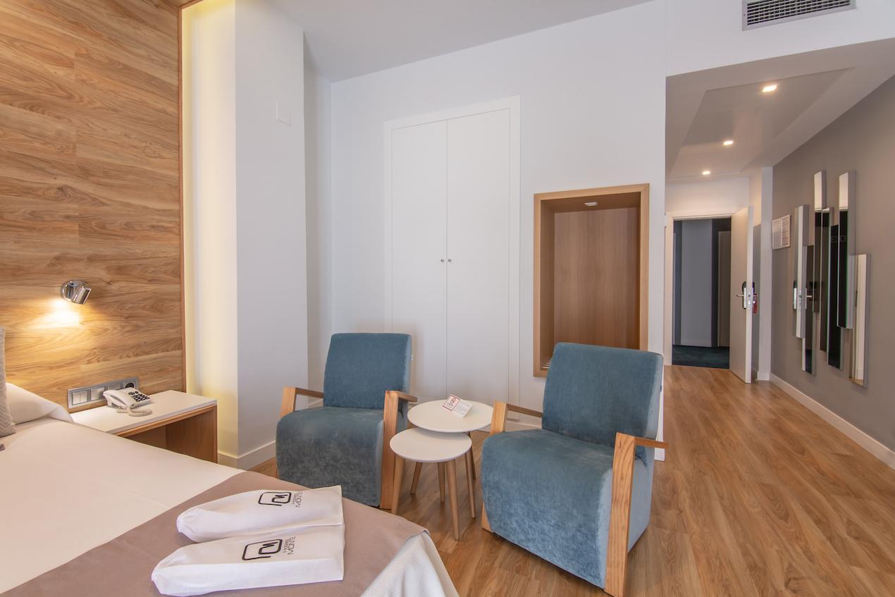 hotel monte puertatierra habitaciones 01 - Hotel Monte Puertatierra. Cadiz | Diseño de  las Habitaciones.