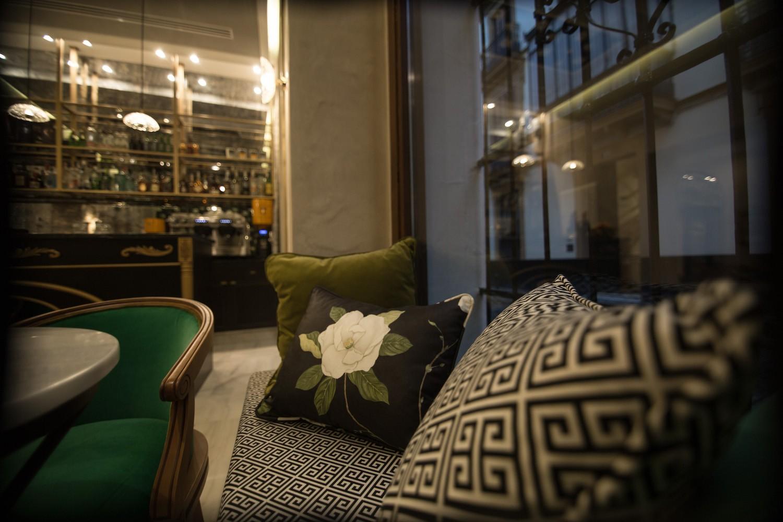 detalle tapiceria bar hotel gravina 51 sevilla - Hotel GRAVINA 51. Sevilla.