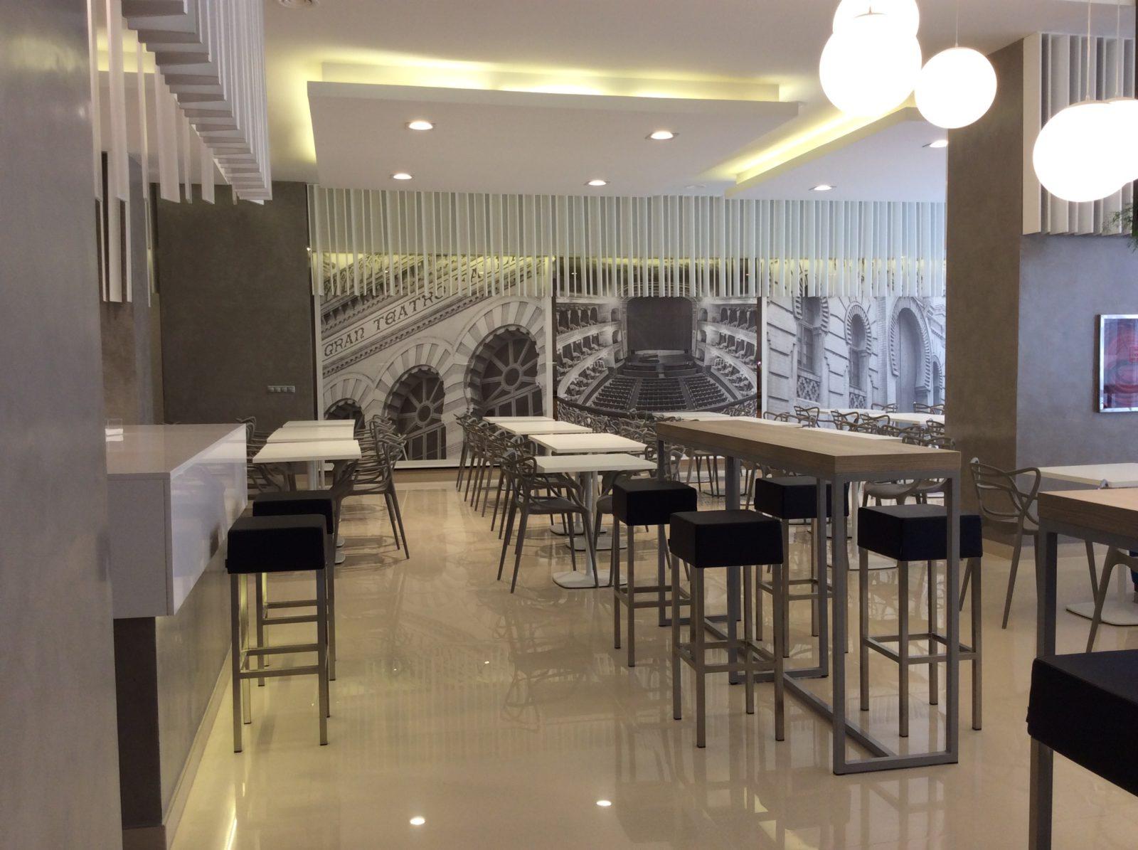 el teatro falla en el bar cafeteria hotel monte puertatierra - Bar cafetería hotel Monte Puertatierra. Cadiz.