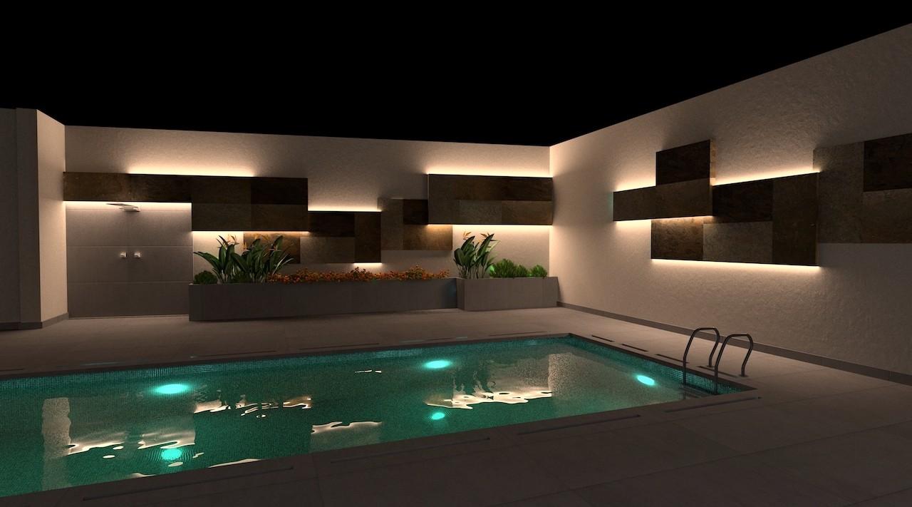 exterior de piscina vivienda mairena del alcor - Proyecto residencial Mairena del Alcor.